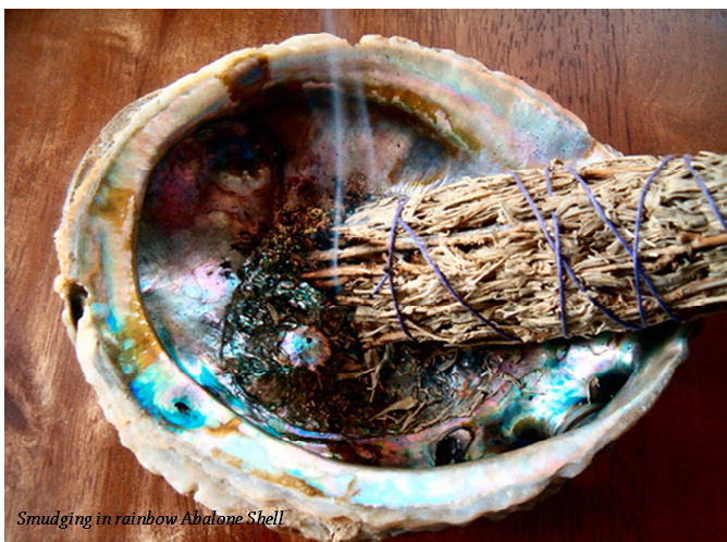 smudging-shell